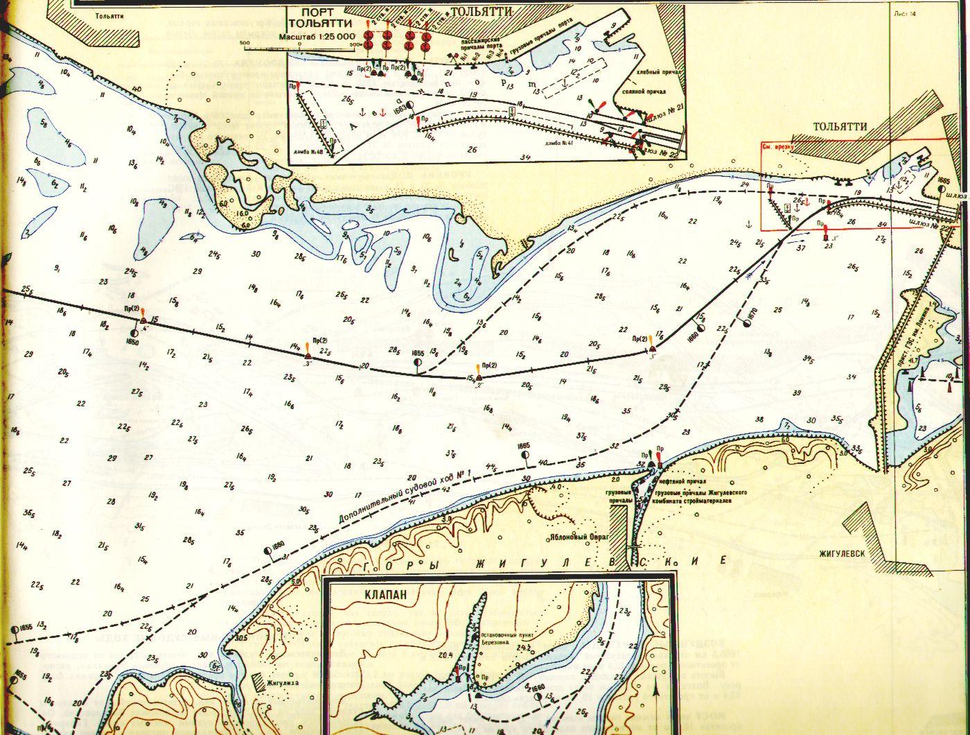 Карта и лоции самарской области